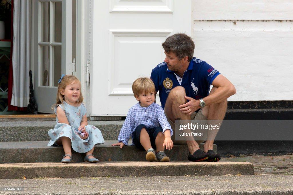 Danish Royal Family Hold Annual Summer Photocall : News Photo
