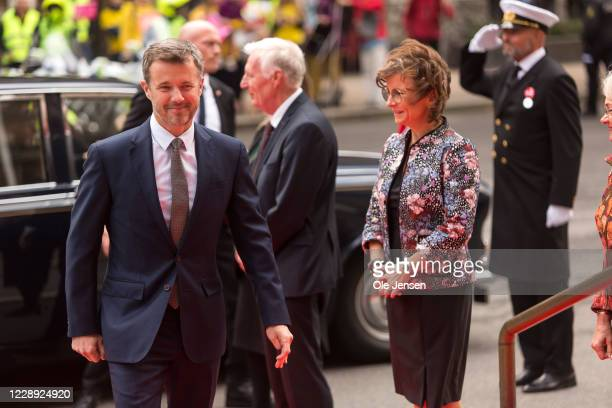 Crown Prince Frederik of Denmarkk arrives at Parliament where they are welcomed by Speaker of the House, Henrik Dam Kristensenm and the Praesidium of...