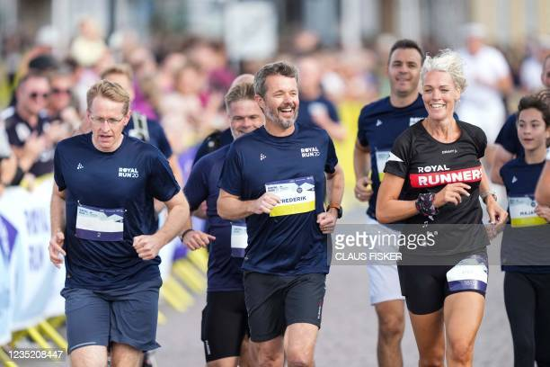 Crown Prince Frederik opens together with Schleswig-Holstein's State Premier Daniel Guenther the Royal Run Sonderjylland in Sonderborg, on September...