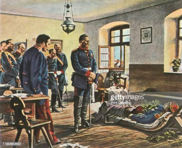 Crown Prince Friedrich Wilhelm with the body of General Douay 4 August 1870 'Kronprinz Friedrich Wilhelm An Der Leiche Des Generals Douay 4 August...
