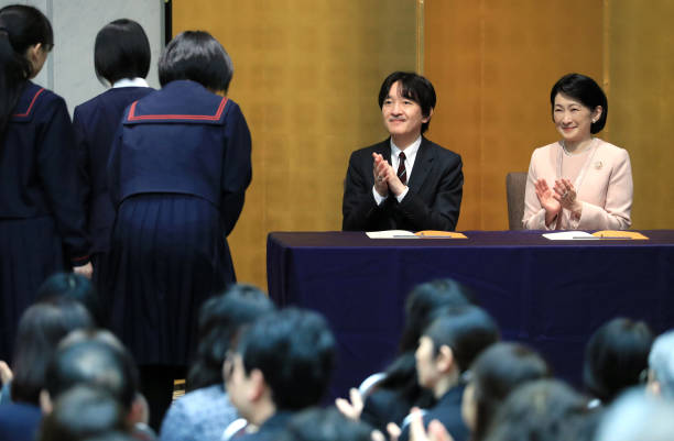 JPN: Crown Prince And Crown Princess Attend Youth Book Report Contest Award Ceremony
