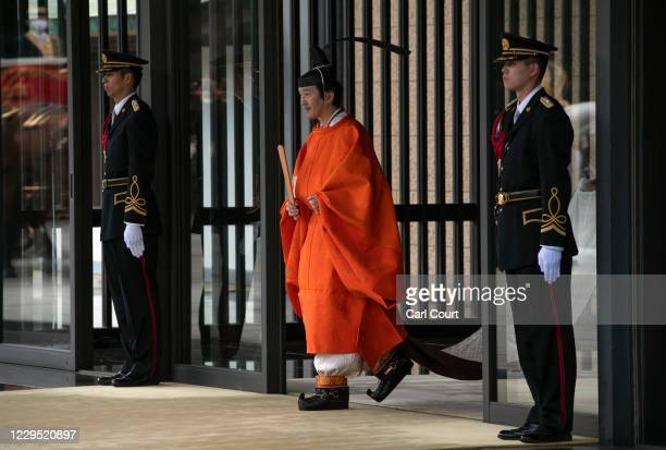Crown Prince Fumihito leaves the Imperial Palace after being formally declared first in line to the Chrysanthemum Throne during a ceremony in which...