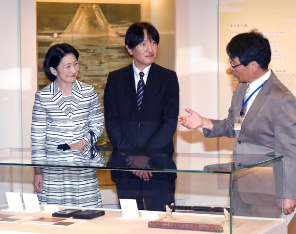 JPN: Crown Prince And Crown Princess Visit Shizuoka