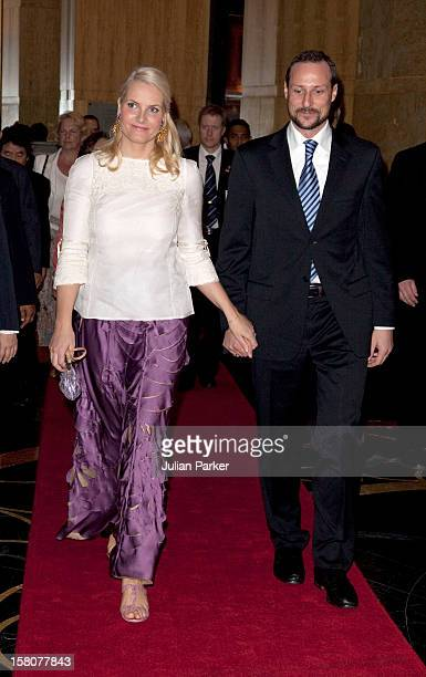 Crown Prince Haakon And Crown Princess Mette Marit Of Norway Leave The Mandarin Oriental Hotel For And Official Dinner Hosted By The Prime Minister...