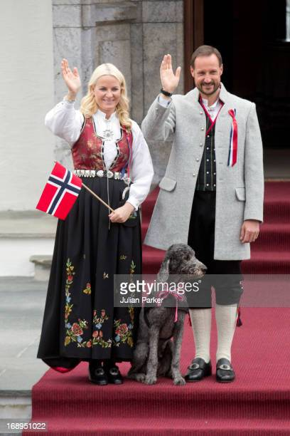 Crown Prince Haakon, and Crown Princess Mette-Marit of Norway, and the Family Dog, Milly Kakao, celebrate Norway National Day at The Crown Prince...
