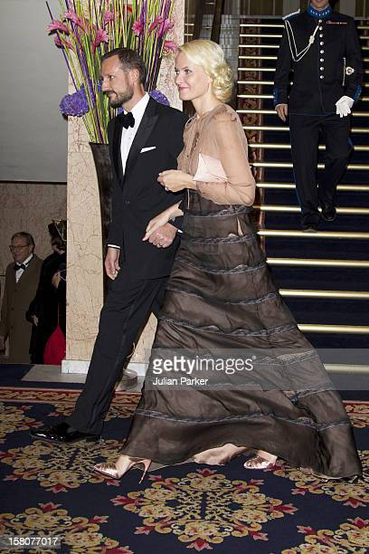 Crown Prince Haakon And Crown Princess MetteMarit Of Norway Attend The Norwegian Nobel Committee'S Banquet At The Grand Hotel Oslo