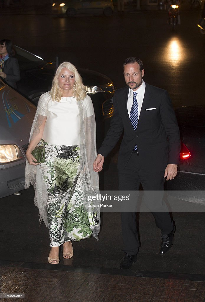 Crown Prince Haakon and Crown Princess Mette-Marit of Norway during day 1 of an official visit to Vietnam, attend a Friendship concert, at The Hanoi Opera House on March 19, 2014 in Hanoi, Vietnam.
