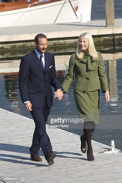 Crown Prince Haakon And Crown Princess MetteMarit Of Norway On The First Day Of Their 3 Day County Trip To More Romsdal Visit ' Geiranger '
