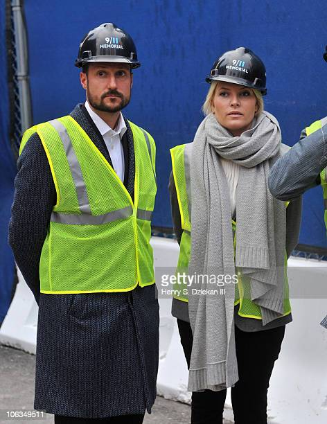 Crown Prince Haakon and Crown Princess MetteMarit of Norway visit Ground Zero on October 29 2010 in New York City