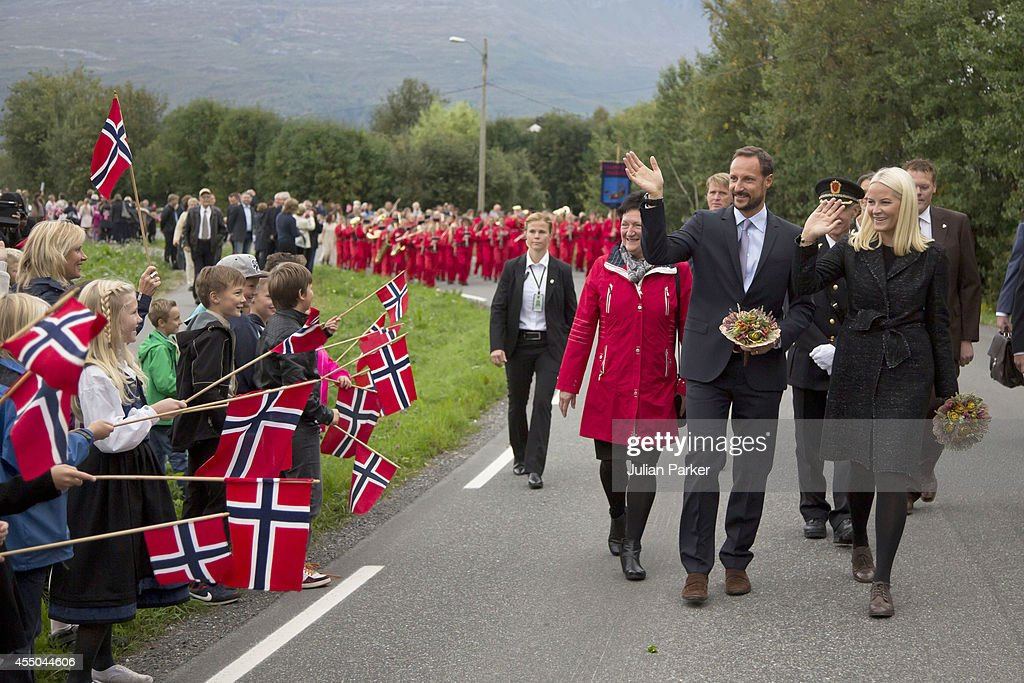 Crown Prince Haakon & Crown Princess Mette-Marit Make Official Visit to Nordland - Day 1 : News Photo