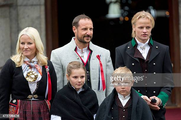 Crown Prince Haakon and Crown Princess MetteMarit of Norway with Princess Ingrid Alexandra and Prince Sverre Magnus and Crown Princess MetteMarit's...