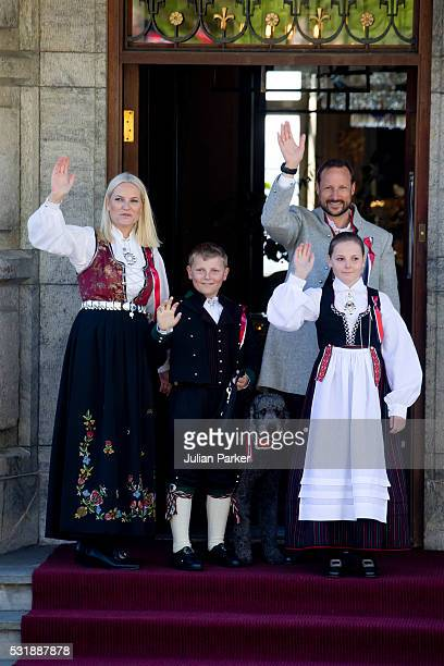 Crown Prince Haakon and Crown Princess MetteMarit of Norway with their children Princess Ingrid Alexandra and Prince Sverre Magnus and their family...