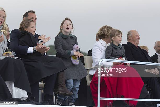 Crown Prince Haakon And Princess Ingrid Alexandra Maud AngelicaQueen Sonja And King Harald With Leah Isadora Attend A Concert At Oslo Opera House To...