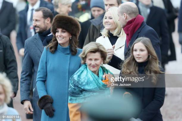 Crown Prince Haakon Catherine Duchess of Cambridge Queen Sonja of Norway Crown Princess MetteMarit of Norway Prince William Duke of Cambridge and...