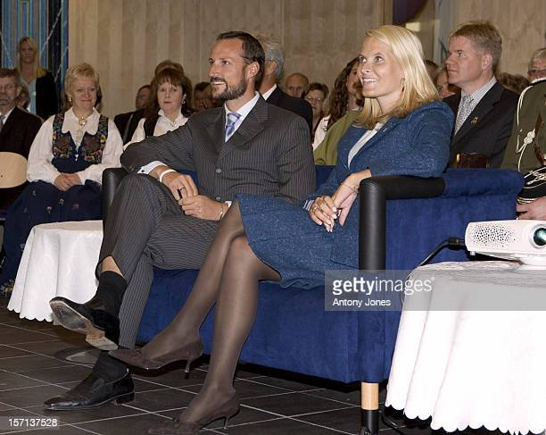 Crown Prince Haakon Crown Princess MetteMarit Of Norway Visit The District Of Buskerud On The Outskirts Of OsloVisit To The BraTa Activity Centre Day...