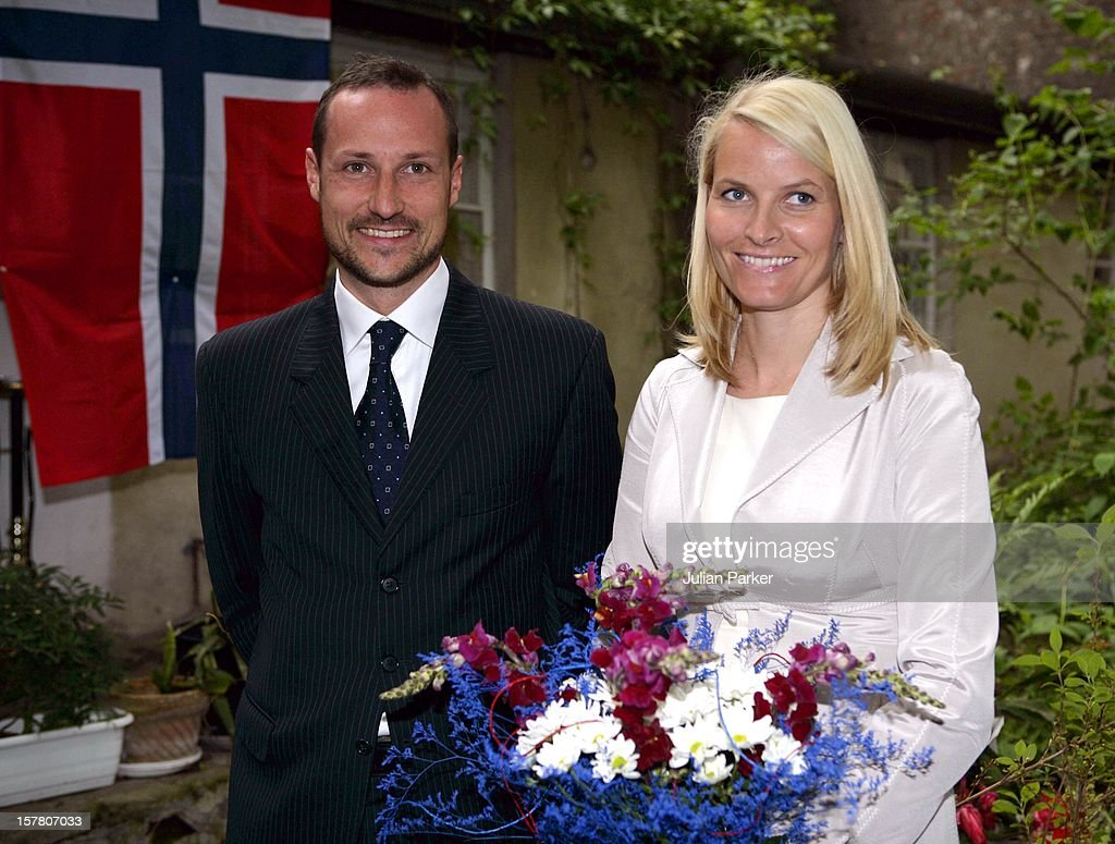Crown Prince Haakon & Crown Princess Mette-Marit Of Norway'S Three-Day Visit To Poland.Meeting With The Press In Warsaw.