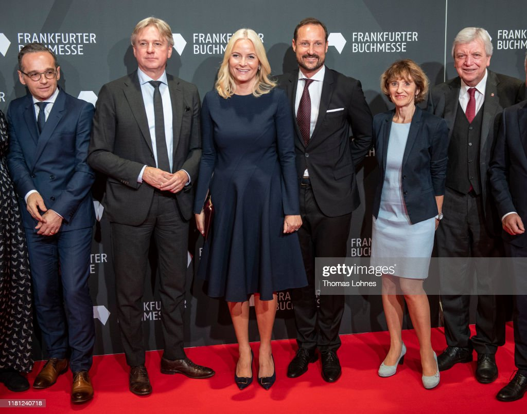 Crown Prince And Crown Princess Of Norway Visit The Frankfurt Book Fair : News Photo