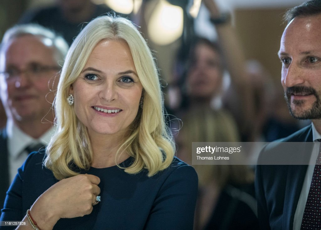 Crown Prince And Crown Princess Of Norway Visit The Frankfurt Book Fair : News Photo