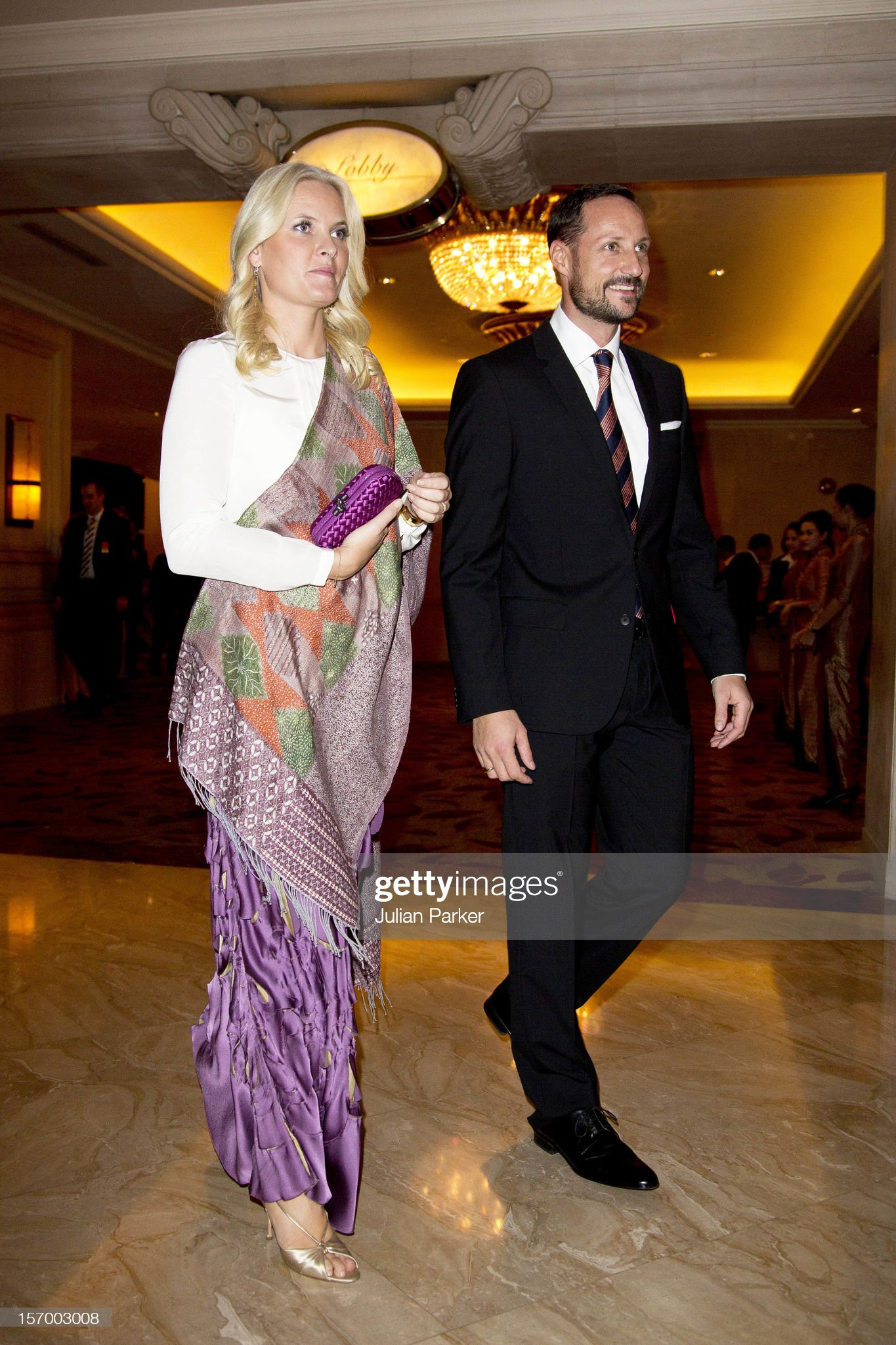Norway's Crown Prince & Princess Visit Indonesia - Day One : News Photo