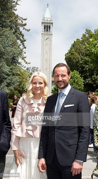 Crown Prince Haakon of Norway and Crown Princess Mette-Marit of Norway visit The University of California, Berkeley, where The Crown Prince used to...
