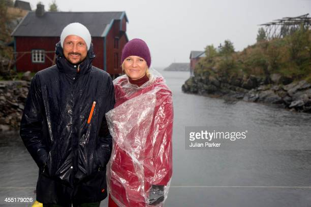 Crown Prince Haakon of Norway and Crown Princess MetteMarit of Norway visit the community of Moskenes during an official visit to Nordland on...