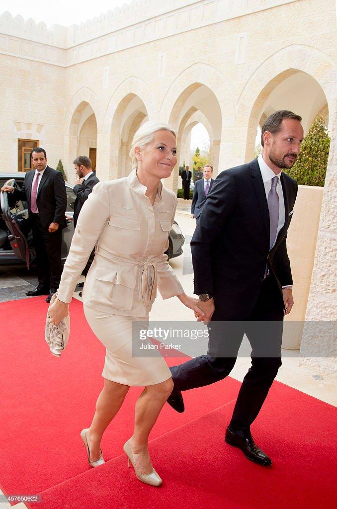 Crown Prince Haakon And Crown Princess Mette-Marit Of Norway Visit Amman, Jordan : News Photo