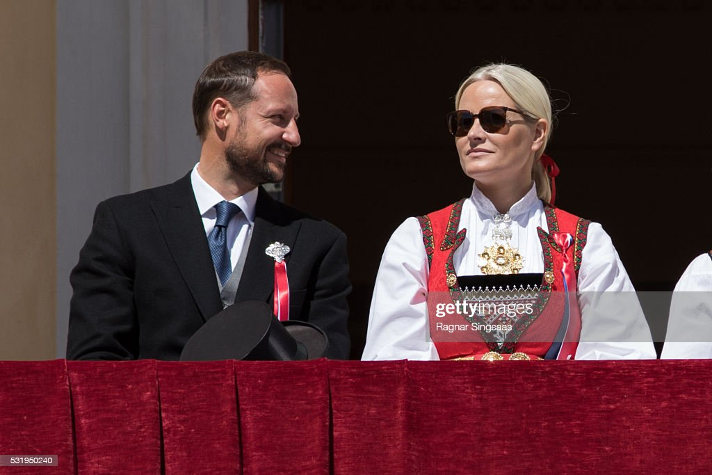 Crown Prince Haakon of Norway and Crown Princess Mette-Marit of Norway celebrate National Day on May 17, 2016 in Oslo, Norway.