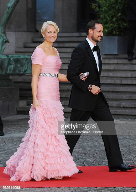 Crown Prince Haakon of Norway and Crown Princess MetteMarit of Norway attend the Government Gala Performance for the Wedding of Crown Princess...