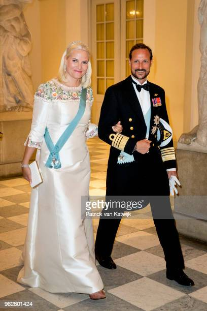 Crown Prince Haakon of Norway and Crown Princess MetteMarit of Norway during the gala banquet on the occasion of The Crown Prince's 50th birthday at...