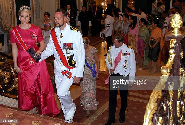Crown Prince Haakon of Norway and Princess MetteMarit of Norway Dutch Prince of Orange Willem Alexander and Dutch Princess Maxima attend the Royal...