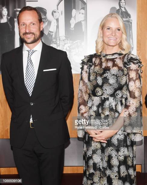 Crown Prince Haakon of Norway and Princess MetteMarit of Norway attend the Nordic Council Literature Prize at the Opera House on October 30 2018 in...