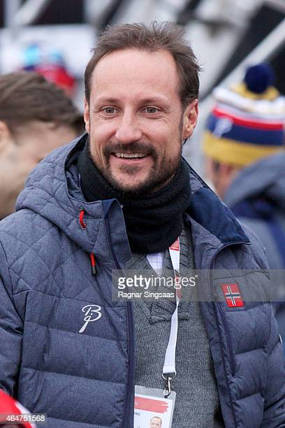 Crown Prince Haakon of Norway attends the FIS Nordic World Ski Championships on February 28 2015 in Falun Sweden
