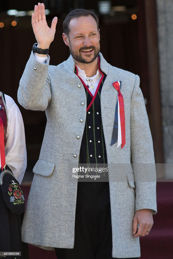 Crown Prince Haakon of Norway celebrates National Day on May 17, 2016 in Asker, Norway.