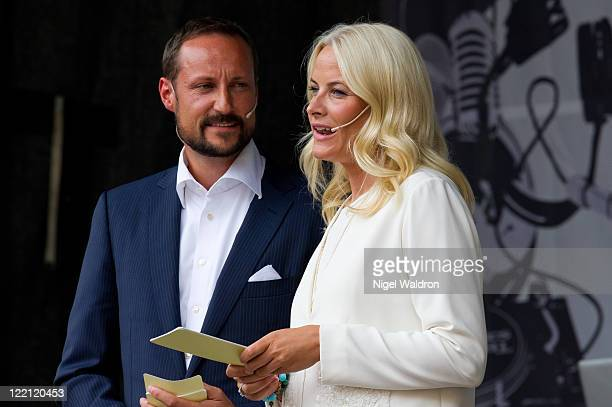 Crown Prince Haakon of Norway Crown Princess MetteMarit of Norway attend a celebration on the occasion of their 10th wedding anniversary at The...