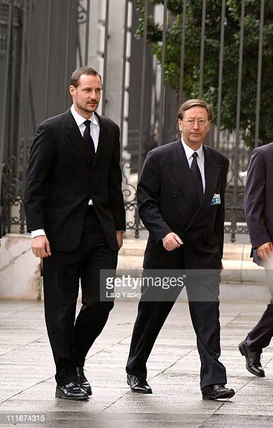 Crown Prince Haakon of Norway during State Funerals for the Victims of the Terrorists Attacks in Madrid - March 24, 2004 at Almudena Catrhedral in...
