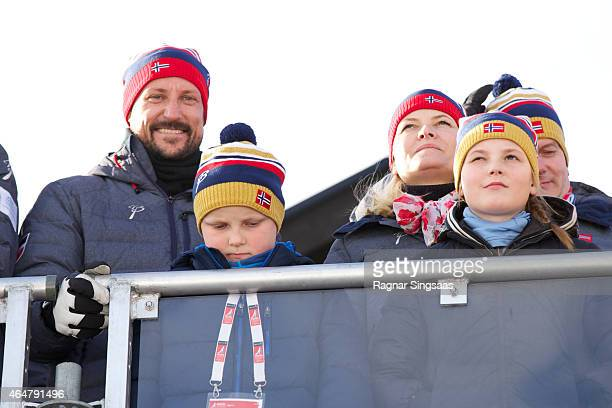 Crown Prince Haakon of Norway Prince Sverre Magnus of Norway Crown Princess MetteMarit of Norway and Princess Ingrid Alexandra of Norway attend the...