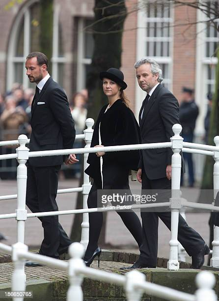 Crown Prince Haakon of Norway Princess Martha Louise of Norway and husband Ari Behn attend a memorial service for Prince Friso of The Netherlands who...