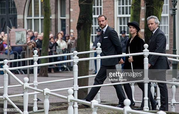 Crown Prince Haakon of Norway, Princess Martha-Louise and Ari Behn arrive at the memorial service for Prince Friso who died in august this year...