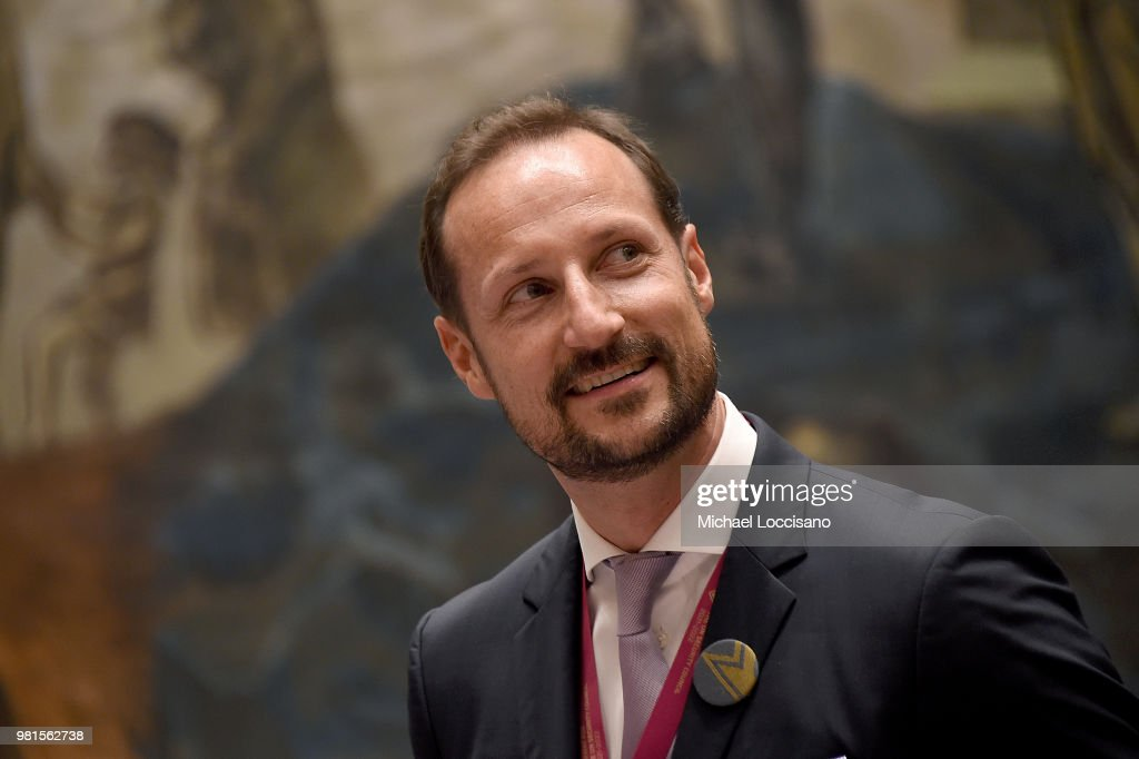 Crown Prince Haakon of Norway visits The United Nations Security Council during Norway's campaign launch for an elected seat in The UN Security Council at the United Nations on June 22, 2018 in New York City.