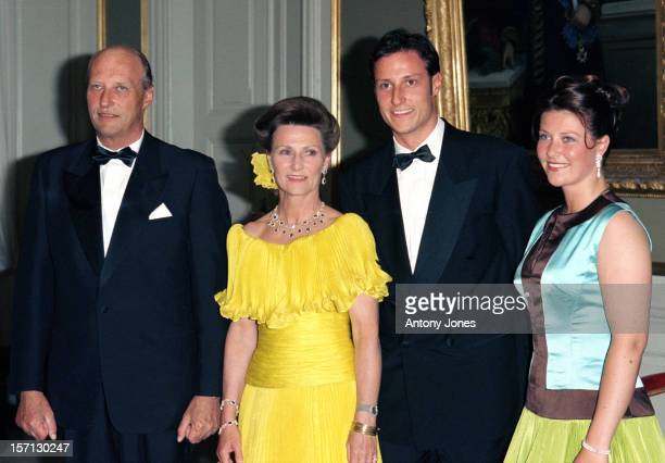 Crown Prince Haakon Princess Martha Louise Attend King Harald Queen Sonja'S 60Th Birthday Celebrations In NorwayGala Dinner At The Royal Residence...
