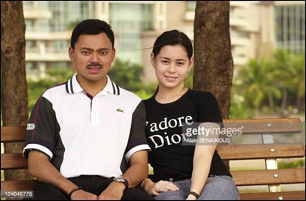 Files pictures of Crown Prince Haji Al Muhtadee Billah and Dayangku Sarah In Brunei Darussalam On September 07 2004 Summer 2004 Crown Prince Haji...