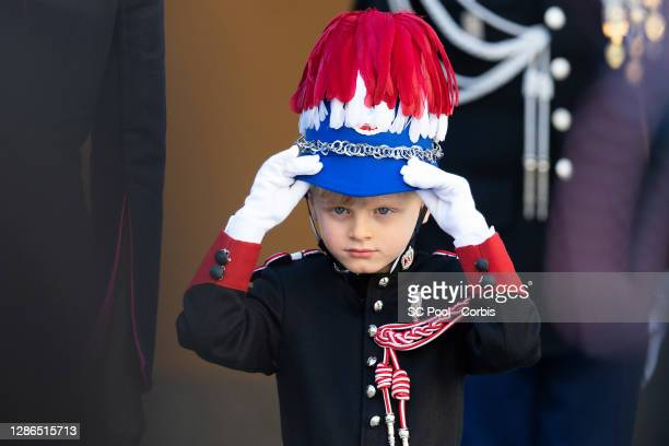 Crown Prince Jacques of Monaco attends the celebrations marking Monaco's National Day at the Monaco Palace, on November 19, 2020 in Monte-Carlo,...