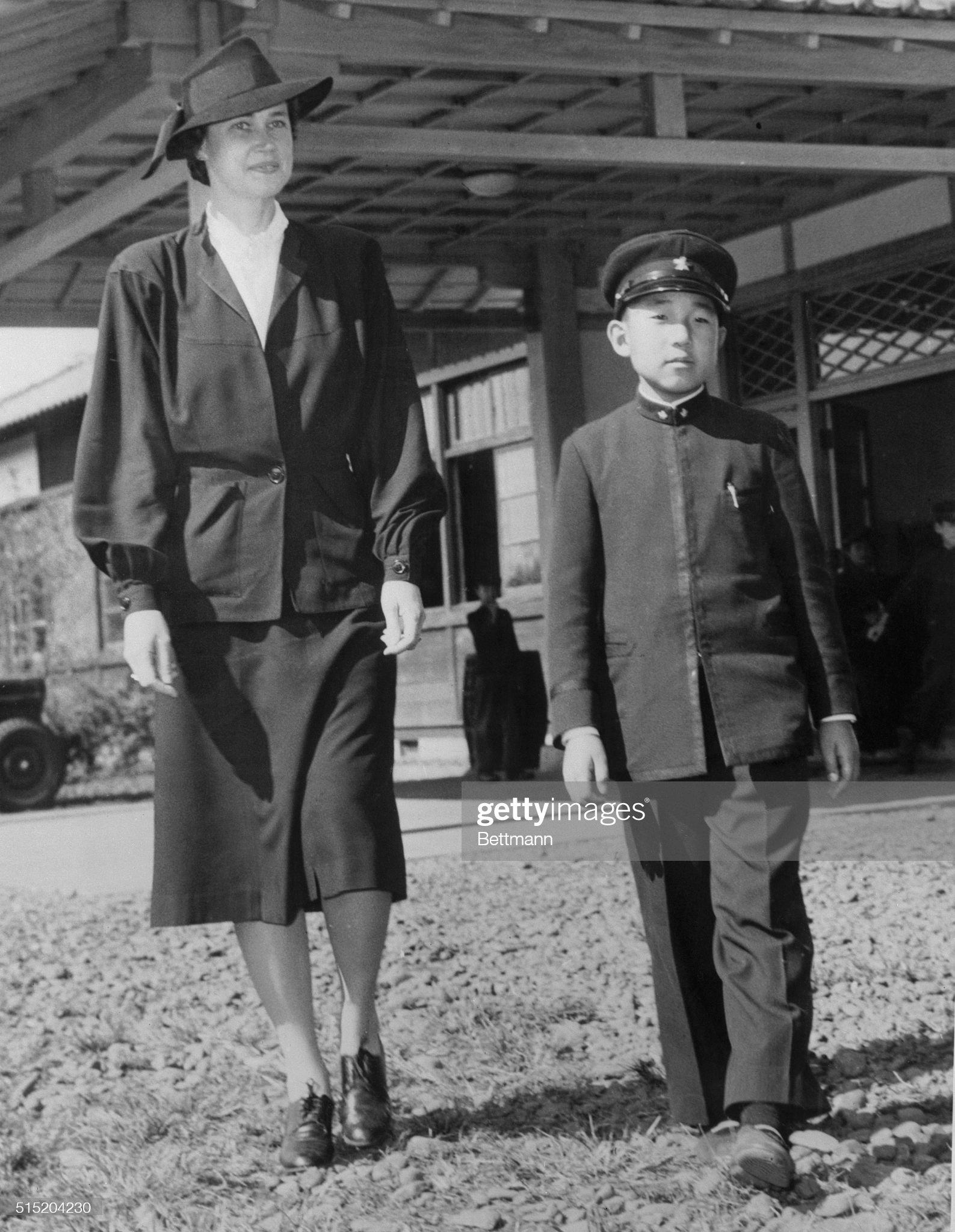 Prince Akihito and His English Tutor : News Photo