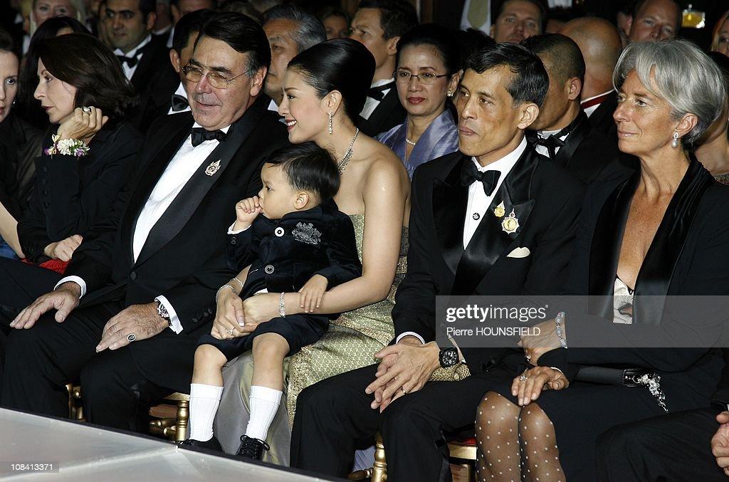 Crown Prince Maha Vajiralongkorn and family, Mr Alain Hivelin (Balmain) in Paris, France on September 29, 2007.