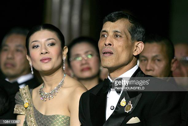 Crown Prince Maha Vajiralongkorn in Paris France on September 29 2007