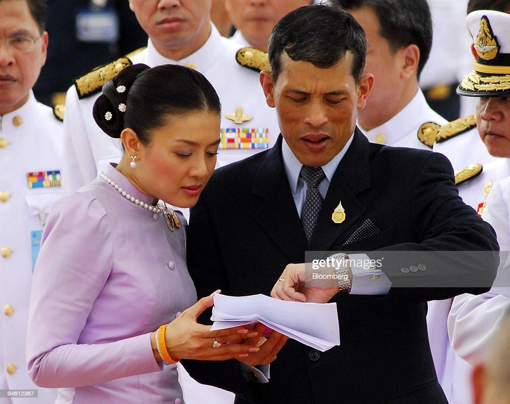 Crown Prince Maha Vajiralongkorn of Thailand, right, and his : News Photo