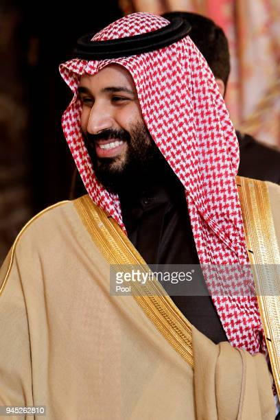 Crown Prince Mohammad bin Salman bin Abdulaziz Al Saud of Saudi Arabia at the Royal Palace on April 12, 2018 in Madrid, Spain.