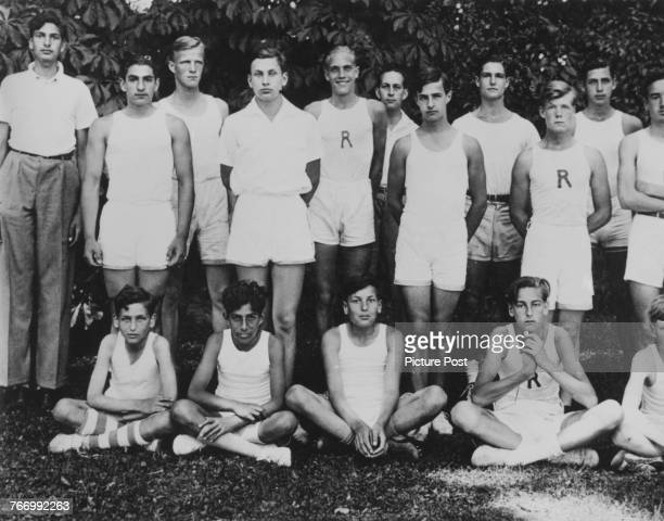 Crown Prince Mohammad Reza Pahlavi of Iran in sports attire at his boarding school Institut Le Rosey in Rolle Switzerland circa 1935 Mohammad Reza...
