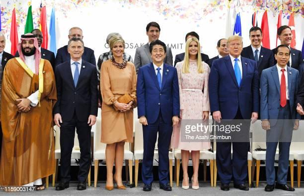 Crown Prince Mohammed bin Salman of Saudi Arabia, Argentine President Mauricio Macri, Queen Maxima of the Netherlands, Japanese Prime Minister Shinzo...