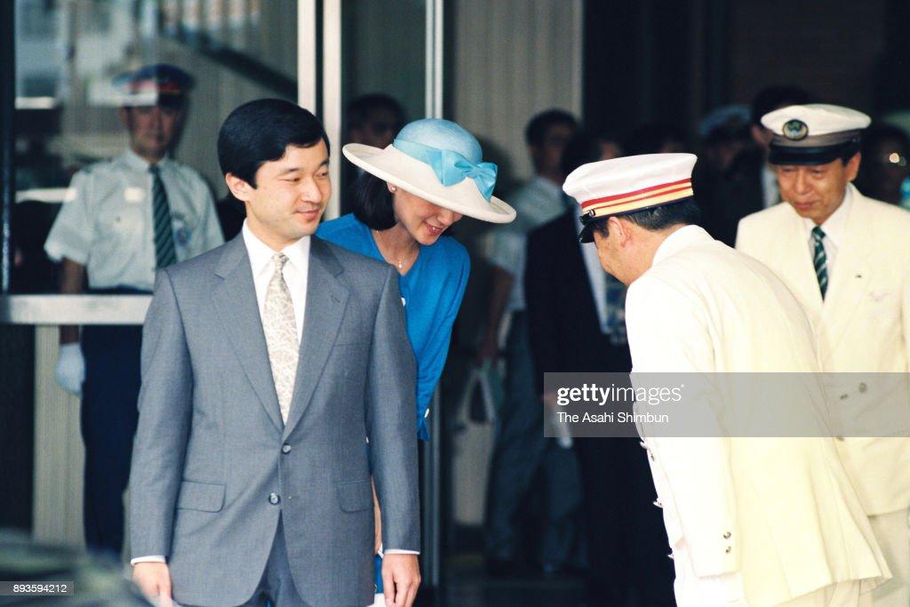 Crown Prince And Princess Visit Tochigi : News Photo